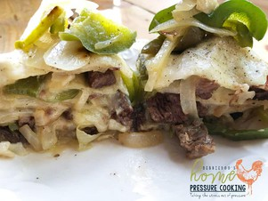 How to Make Philly Cheese Steak Tortilla Pie in the ...