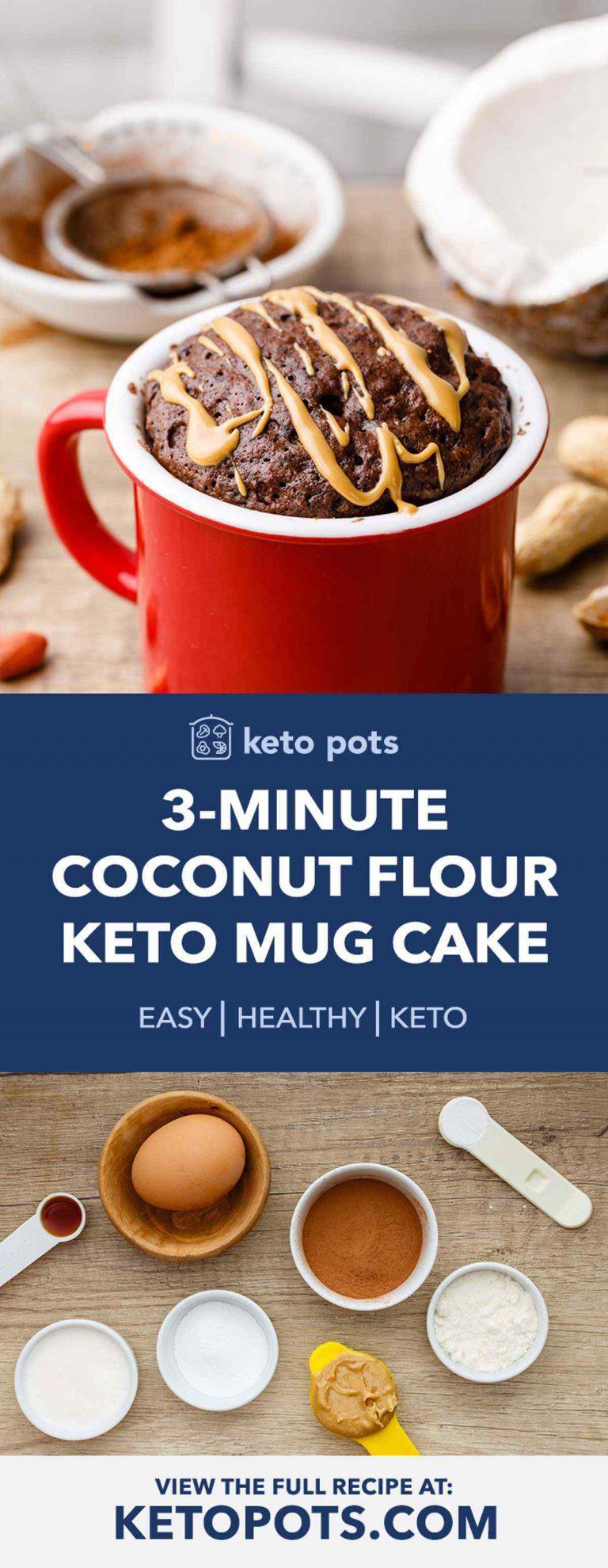 3 Minute Coconut Flour Mug Cake Keto Friendly And Low Carb Amy Copy Me That