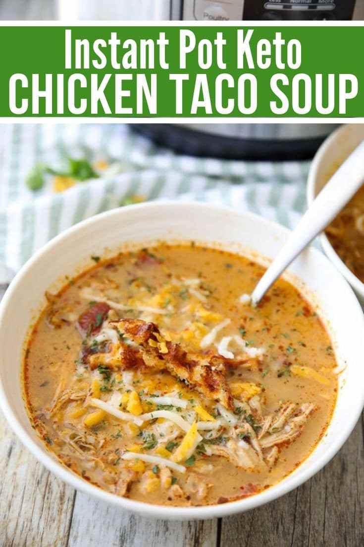 Best Keto Chicken Taco Soup Recipe Instant Pot Or Crock Pot Kelly Stetser Pollitt Copy Me That
