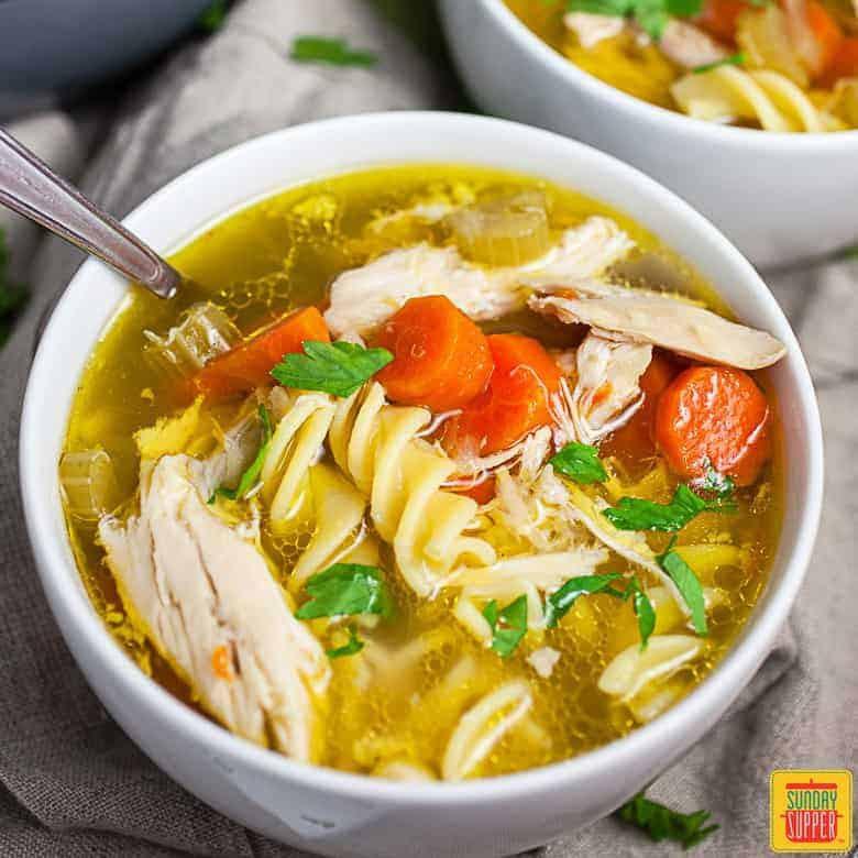 chickfila chicken noodle soup copycat recipe  beth