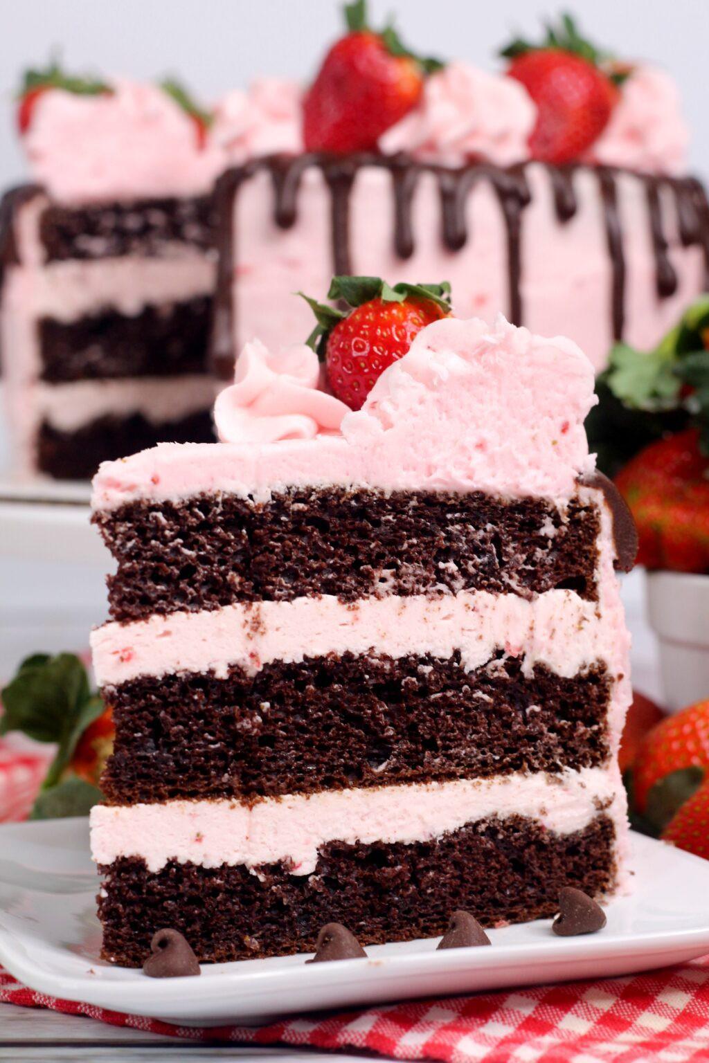 Chocolate Kahlua Cake with Strawberry Buttercream Frosting  Lezlie Piggott-Webster  Copy Me That