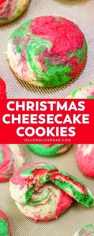 Christmas Cheesecake Cookies