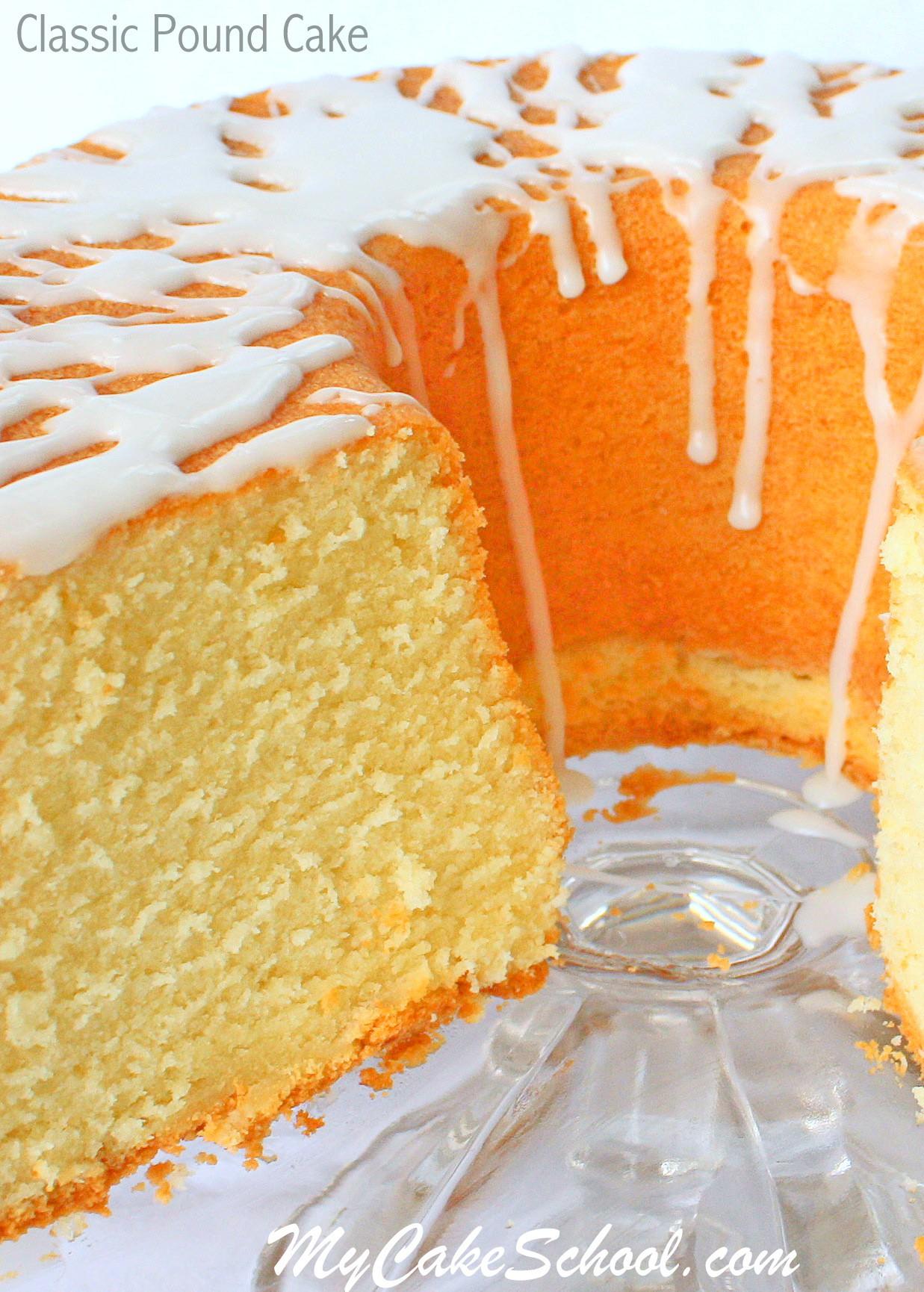 Classic Pound Cake Recipe by My Cake School