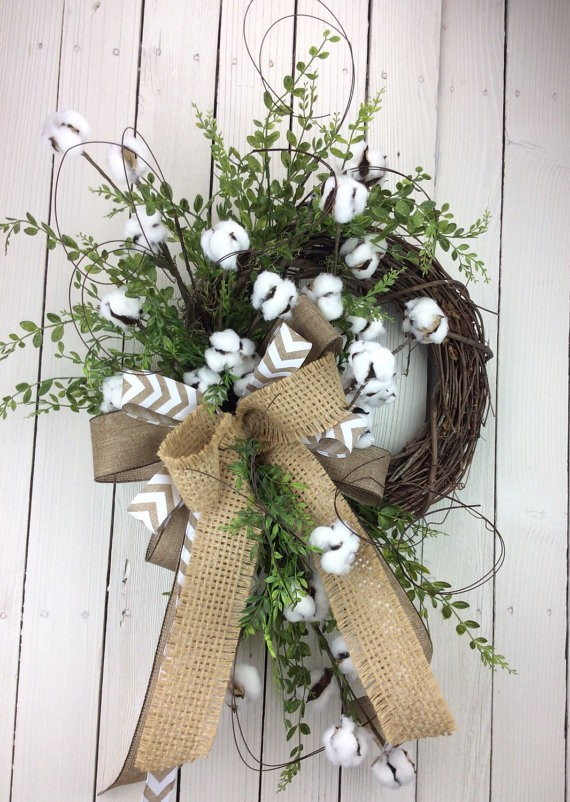 Cotton Wreath Cotton Boll Wreath Preserved Cotton Wreath By Keleas Ssmerritt51 Copy Me That