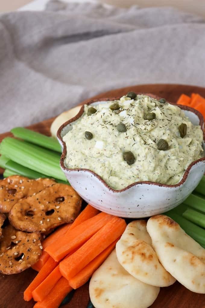 Dill Pickle Egg Salad Dip