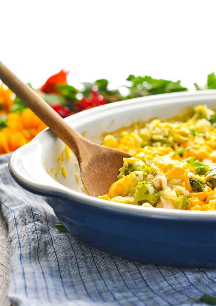 Baked Chicken Broccoli Rice Casserole