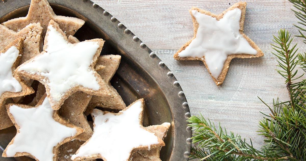 German Cinnamon Stars Low Carb Christmas Cookies