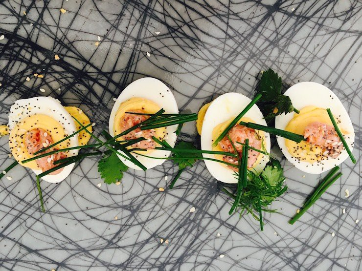 Grace Meat Three S Country Ham Deviled Eggs Dennis Walsh Copy Me That