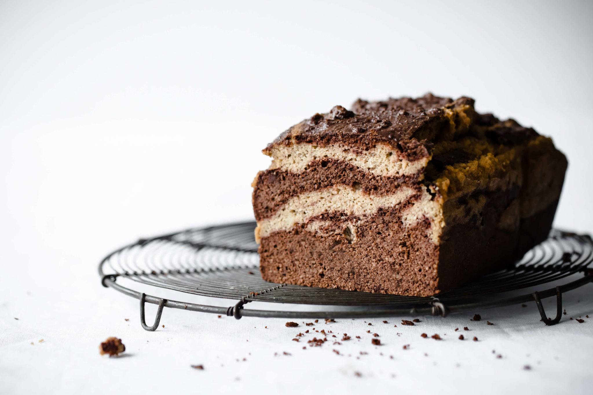 Keto Chocolate Cake Recipe With Almond Flour: Keto Chocolate Vanilla Marble Pound Cake