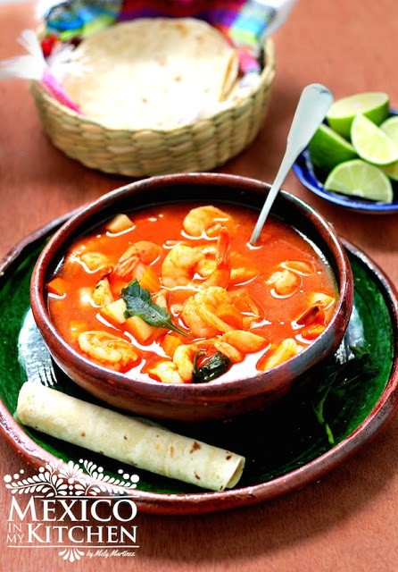 Mexico In My Kitchen Mexican Shrimp Soup Caldo De Camaron Authentic Mexican Food Recipes