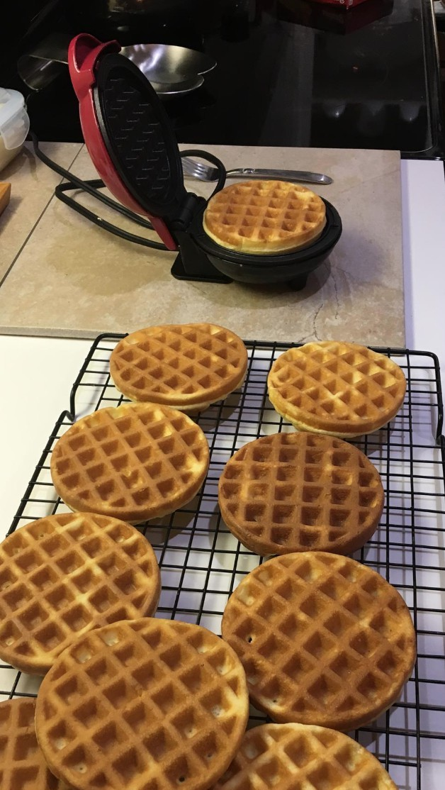 Keto Cream Cheese Waffles Toaster Size Pixie2016