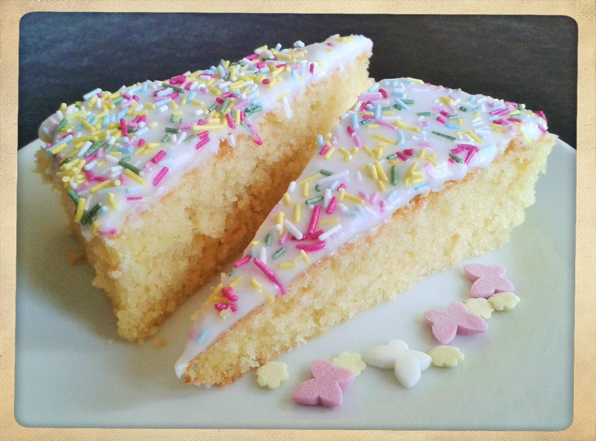 Vanilla, Strawberry & Rose Victoria Sponge Cake for a Big