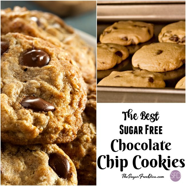 The Best Sugar Free Chocolate Chip Cookies The Sugar Free Diva