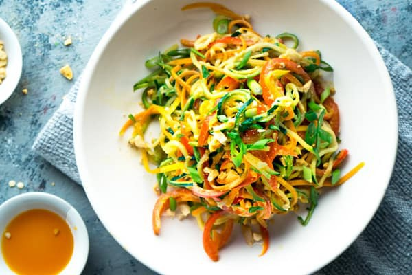Vegan Thai Peanut Zucchini Noodles Recipe Zoodles -3073